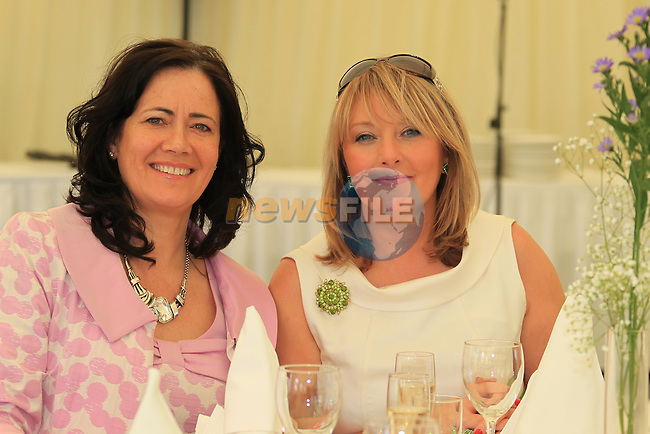 Helen McEvoy Annette Walsh at the Network Louth Meath Lunch to announce the winners of the 2012 Network Louth Meath Business Women Of The Year Awards. The awards, supported by Louth County Enterprise Board were presented by Mrs Mairead McGuinness MEP at the Network Louth Meath Business Awards luncheon at Bellewstown Races..Picture: Fran Caffrey / www.newsfile.ie