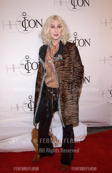Pop star CHER at the mtvICON gala honoring Aerosmith, at Sony Studios, Los Angeles..14APR2002.