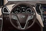 Car pictures of steering wheel view of a 2016 Hyundai Santa-Fe Executive 5 Door Suv Steering Wheel