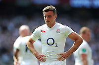 George Ford of England looks on during a break in play. Old Mutual Wealth Cup International match between England and Wales on May 29, 2016 at Twickenham Stadium in London, England. Photo by: Patrick Khachfe / Onside Images