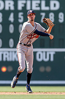 Shortstop Braden Shewmake (39) of the Rome Braves, an Atlanta Braves' First-Round pick in the 2019 MLB Draft, plays defense in a game against the Greenville Drive on Sunday, June 30, 2019, at Fluor Field at the West End in Greenville, South Carolina. Rome won, 6-3. (Tom Priddy/Four Seam Images)