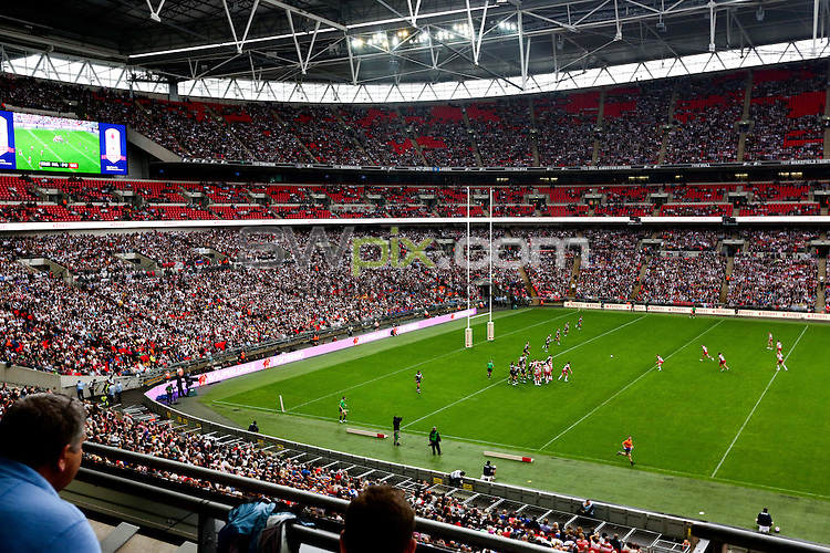 PICTURE BY Charlie Forgham-Bailey/SWPIX.COM - Rugby League - 2013 Tetley's Challenge Cup Final - Hull FC v Wigan Warriors - Wembley Stadium, London, England - 24/08/2013.