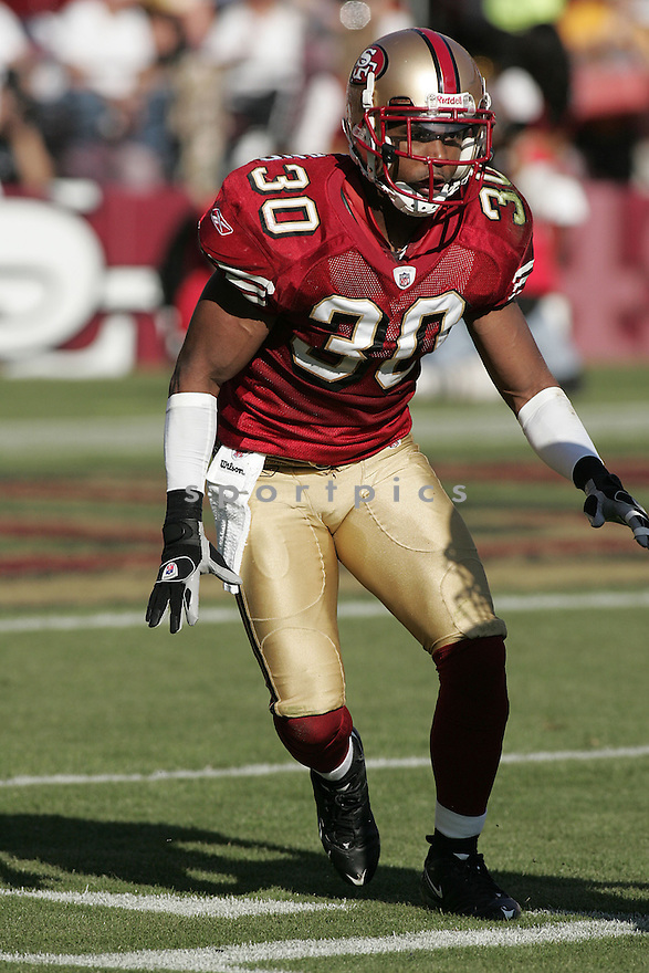 DONALD STICKLAND, of the San Francisco 49ers  in action against the St. Louis Ram during the 49ers game in San Francisco, California on November 16, 2008..49ers win 35-16