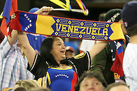 March 7, 2009:  Fans of Venezuela during the first round of the World Baseball Classic at the Rogers Centre in Toronto, Ontario, Canada.  Venezuela lost to Team USA 15-6 in both teams second game of the tournament.  Photo by:  Mike Janes/Four Seam Images