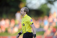 Boyds, MD - Saturday June 25, 2016: Referees during a United States National Women's Soccer League (NWSL) match between the Washington Spirit and Sky Blue FC at Maureen Hendricks Field, Maryland SoccerPlex.