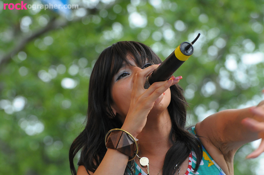 Chicago native MC Mellissa Young aka Kid Sister performs at Summer Stage in Central Park NYC ( June 14, 2008)