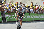 World Champion Alejandro Valverde (ESP) Movistar Team climbs to 10th place atop the Col du Tourmalet near the end of Stage 14 of the 2019 Tour de France running 117.5km from Tarbes to Tourmalet Bareges, France. 20th July 2019.<br /> Picture: Colin Flockton | Cyclefile<br /> All photos usage must carry mandatory copyright credit (© Cyclefile | Colin Flockton)