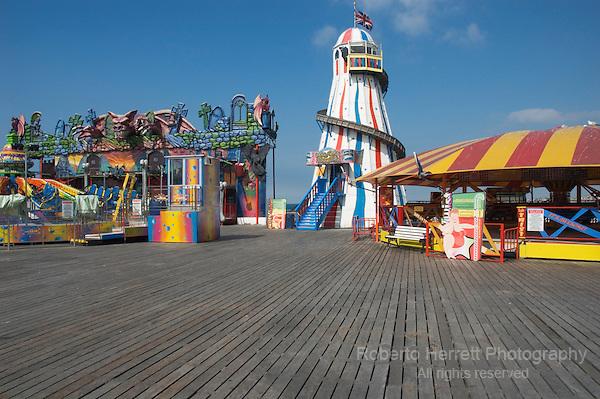 Funfair at Brighton Pier, Brighton, Sussex, England UK