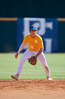 Izaac Pacheco (24) of Friendswood High School in Friendswood, TX during the Perfect Game National Showcase at Hoover Metropolitan Stadium on June 17, 2020 in Hoover, Alabama. (Mike Janes/Four Seam Images)
