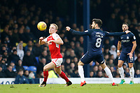Kyle Dempsey of Fleetwood Town wins the ball during the Sky Bet League 1 match between Southend United and Fleetwood Town at Roots Hall, Southend, England on 13 January 2018. Photo by Carlton Myrie.