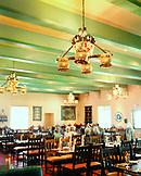 USA, Arizona, group of people dining at La Posada Hotel, Winslow