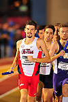 11 MAR 2016:  Robert Domanic of the University of Mississippi competes in the Distance Medley during the Division I Men's Indoor Track & Field Championship held at the Birmingham Crossplex in Birmingham, Al. Tom Ewart/NCAA Photos