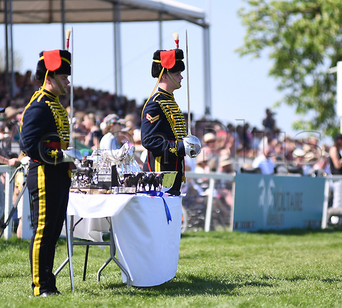 6th May 2018, Badminton, Gloucestershire, England; Badminton Horse Trials, The Mitsubishi Motors Cup, day 5; The prize table