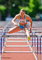 23 MAY 2010 - LOUGHBOROUGH, GBR - Jessica Ennis - Womens 100m Hurdles - Loughborough International Athletics .(PHOTO (C) NIGEL FARROW)