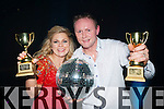 Grainne O'Sullivan and Michael Bernard O'Donoghue celebrate after winning the inaugural Killarney Strictly Come Dancing in aid of the Irish Cancer Society on Friday night
