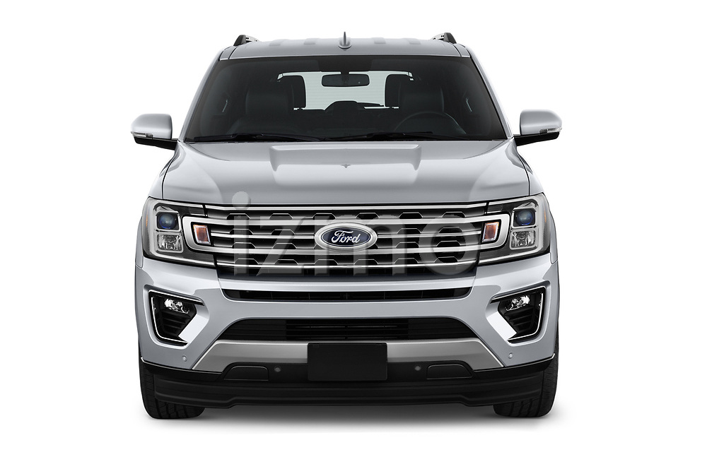 Car photography straight front view of a 2018 Ford Expedition Limited 5 Door SUV
