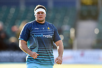 Ryan Bower of Worcester Warriors looks on during the pre-match warm-up. Premiership Rugby Cup match, between Saracens and Worcester Warriors on November 11, 2018 at Allianz Park in London, England. Photo by: Patrick Khachfe / JMP