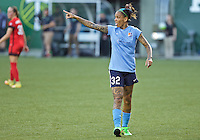 Portland, OR - Saturday July 02, 2016: Tasha Kai during a regular season National Women's Soccer League (NWSL) match between the Portland Thorns FC and Sky Blue FC at Providence Park.