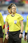 CHESTER, PA - MARCH 01: Referee Ann Chenard (CAN). The United States Women's National Team played the Germany Women's National Team as part of the She Believes Cup on March 1, 2017, at Talen Engery Stadium in Chester, PA. The United States won the game 1-0.