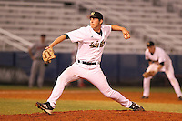 Western Michigan Broncos pitcher Matt Nestor #27 delivers a pitch during a game against the Illinois State Redbirds at Chain of Lakes Stadium on March 10, 2012 in Winter Haven, Florida.  Illinois State defeated Western Michigan 10-9.  (Mike Janes/Four Seam Images)