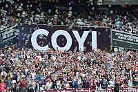 COYI sign during West Ham United vs Everton, Premier League Football at The London Stadium on 13th May 2018