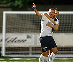 Lee McCulloch celebrates his goal with Jon Daly