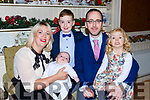 Little Aodhan O'Shea, Milltown celebrated his christening with his parents Owen and Celia, big brother Peader, bis sister Neasa and family and friends in Kate Kearneys Cottage on Sunday