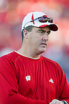Wisconsin Badgers offensive coordinator Paul Chryst during warmups prior to the NCAA college football game against the Ohio State Buckeyes on October 16, 2010 at Camp Randall Stadium in Madison, Wisconsin. The Badgers beat the Buckeyes 31-18. (Photo by David Stluka)