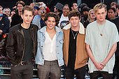 London, UK. 26 September 2016. Members of the pop rock band The Vamps. Red carpet arrivals for the European Premiere of the Hollywood movie Deepwater Horizon in Leicester Square. The movie is based on the 2010 Deepwater Horizon explosion and oil spill in the Gulf of Mexico. © Bettina Strenske/Alamy Live News