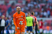 Chelsea's Wilfredo Caballero celebrates <br /> <br /> Photographer Craig Mercer/CameraSport<br /> <br /> Emirates FA Cup Final - Chelsea v Manchester United - Saturday 19th May 2018 - Wembley Stadium - London<br />  <br /> World Copyright &copy; 2018 CameraSport. All rights reserved. 43 Linden Ave. Countesthorpe. Leicester. England. LE8 5PG - Tel: +44 (0) 116 277 4147 - admin@camerasport.com - www.camerasport.com