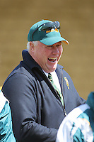 Australia coach Rob Nowlan laughs after the win during the International rugby match between New Zealand Secondary Schools and Suncorp Australia Secondary Schools at Yarrows Stadium, New Plymouth, New Zealand on Friday, 10 October 2008. Photo: Dave Lintott / lintottphoto.co.nz