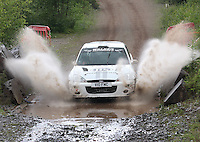 Euan Thorburn / Paul Beaton at the watersplash on Special Stage 5 Heathhall of the 2012 RSAC Scottish Rally supported by Dumfries and Galloway Council, Round 5 of the RAC MSA Scottish Rally Championship which was based in Dumfries on 30.6.12.