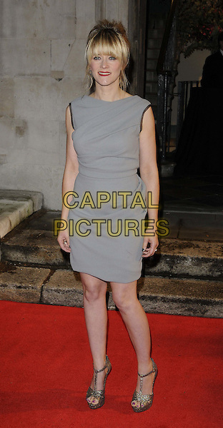 Edith Bowman .The 55th BFI London Film Festival Awards, LSO St Lukes, London, England..26th October 2011.full length sleeveless dress grey gray .CAP/CAN.©Can Nguyen/Capital Pictures.