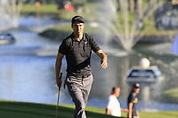 Ross Fisher (ENG) walks onto the 18th green during Thursday's Round 1 of the 2018 Turkish Airlines Open hosted by Regnum Carya Golf &amp; Spa Resort, Antalya, Turkey. 1st November 2018.<br /> Picture: Eoin Clarke | Golffile<br /> <br /> <br /> All photos usage must carry mandatory copyright credit (&copy; Golffile | Eoin Clarke)