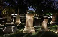 grave yard cemetery ghost light