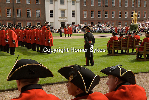 The Royal Hospital Chelsea. Chelsea Penioners. The Founders Day annual celebration. London SW3 England. 2006