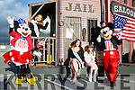 Mickey Mouse and Minnie Mouse celebrated 4th July with Kerry Rose Danielle O'Sullivan, Lily of Killarney Eve O'Donoghue and Ava Foran at the USA Independence parade in Killarney on Monday evening
