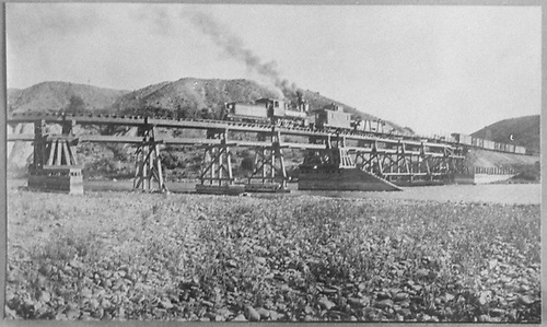 Trestle could be false-work for truss spans<br /> D&amp;RG  near Austin on Somerset Branch, CO  1902