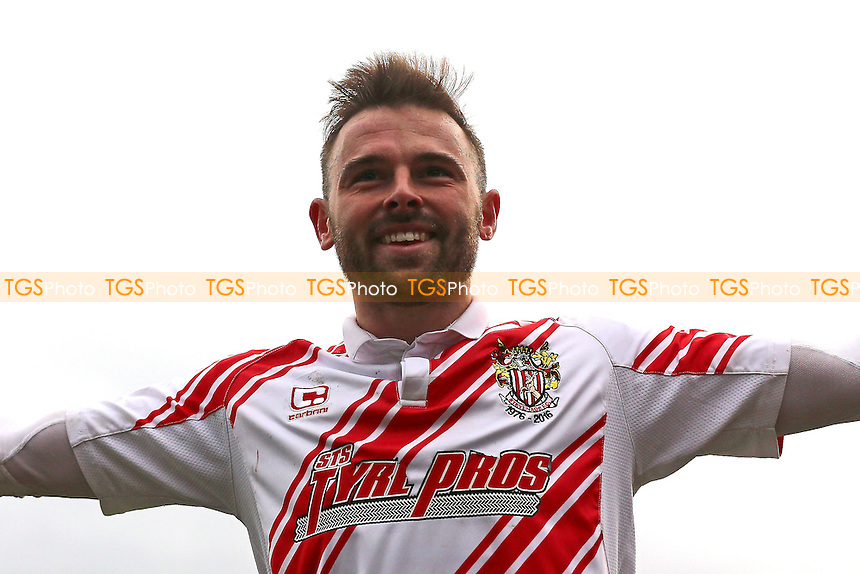 Matthew Godden of Stevenage scores the third goal for his team and celebrates during Stevenage vs Notts County, Sky Bet EFL League 2 Football at the Lamex Stadium on 4th March 2017