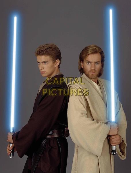 HAYDEN CHRISTENSEN & EWAN McGREGOR.in Star Wars Episode 2 - Attack of the Clones.*Filmstill - Editorial Use Only*.Ref: FB.www.capitalpictures.com.sales@capitalpictures.com.Supplied by Capital Pictures