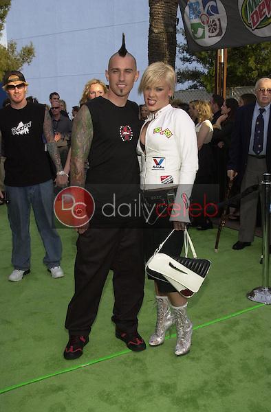 Pink with boyfriend Carey Hart