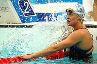 Federica Pellegrini Italia piange commossa all'arrivo. Medaglia d'oro e record del mondo 200m stile libero.Gold Medal and World record .National Aquatics Centre Nuoto.Pechino - Beijing 13/8/2008 Olimpiadi 2008 Olympic Games.Foto Andrea Staccioli Insidefoto