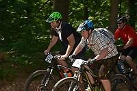 NWA Democrat-Gazette/BEN GOFF @NWABENGOFF<br /> Category 3 men start their race by age group Sunday, June 11, 2017, during the Battle for Townsend's Ridge mountain bike race at Hobbs State Park - Conservation Area near Rogers. The cross country race, presented by Ozark Off Road Cyclists, is part of the Arkansas Mountain Bike Championship Series. This year entry fees for racers 14 and younger were covered by Ozark Off Road Cyclists.