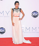 Jeannie Mai. at The 64th Anual Primetime Emmy Awards held at Nokia Theatre L.A. Live in Los Angeles, California on September  23,2012                                                                   Copyright 2012 Hollywood Press Agency