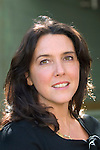Bettany Hughes, TV historian and author of 'Helen of Troy' and 'The Hemlock Cup' at the Woodstock Literary Festival, Woodstock, Oxfordshire, UK. 18 September 2010. Photograph copyright Graham Harrison.