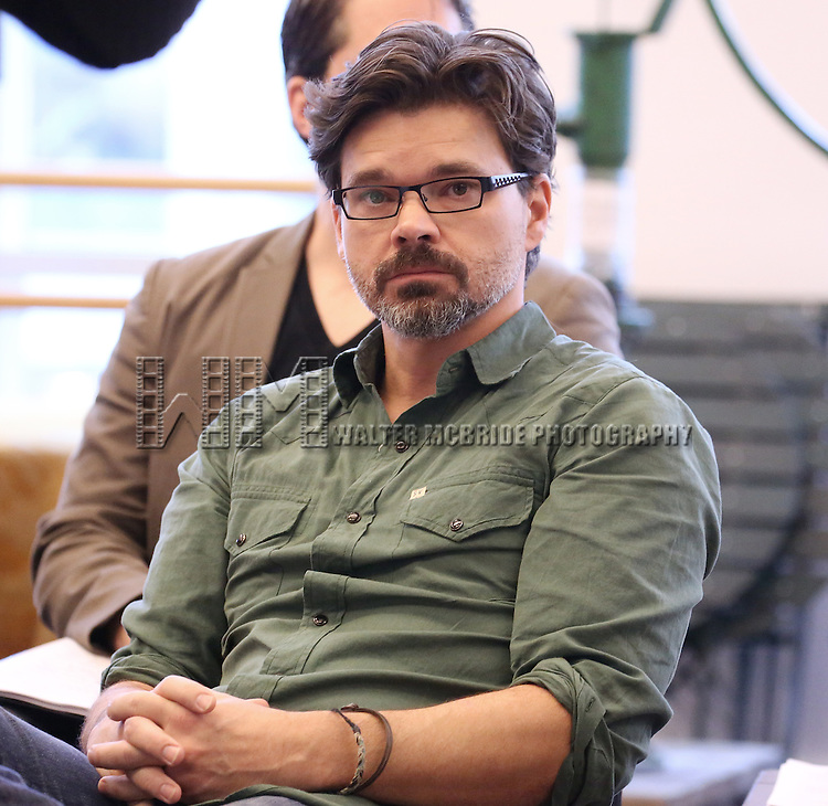 Hunter Foster performs at the 'The Bridges of Madison County' Media Day at the New 42nd Street Studios on December 16, 2013 in New York City.