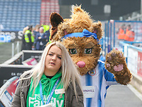 A Huddersfield Town mascot walks inside the John Smith's Stadium<br /> <br /> Photographer Alex Dodd/CameraSport<br /> <br /> The Premier League - Huddersfield Town v Swansea City - Saturday 10th March 2018 - John Smith's Stadium - Huddersfield<br /> <br /> World Copyright &copy; 2018 CameraSport. All rights reserved. 43 Linden Ave. Countesthorpe. Leicester. England. LE8 5PG - Tel: +44 (0) 116 277 4147 - admin@camerasport.com - www.camerasport.com