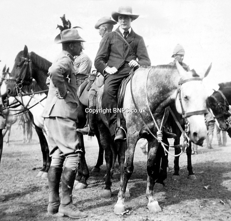 BNPS.co.uk (01202 558833)<br /> Picture: collect<br /> <br /> Winston Churchill on horseback in South Africa during the Boer War.<br /> <br /> A never seen before letter by Winston Churchill has emerged to reveal how he once escaped a fatal bout of food poisoning which killed his manservant sitting next to him.The future Prime Minister described how he had enjoyed the same food as tragic George Scrivings who became ravaged with salmonella poisoning a short time later.The valet endured 16 hours of choleraic diarrhea before passing away in 1907 during a trip to East Africa.The little-known episode reveals a close brush with death for the great wartime leader and shows how the course of history could have easily been changed.