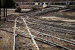 Tracks and switches, railyard, Barstow, Calif.