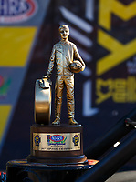 Apr 23, 2017; Baytown, TX, USA; Detailed view of the Wally trophy won by NHRA top fuel driver Leah Pritchett after winning the Springnationals at Royal Purple Raceway. Mandatory Credit: Mark J. Rebilas-USA TODAY Sports